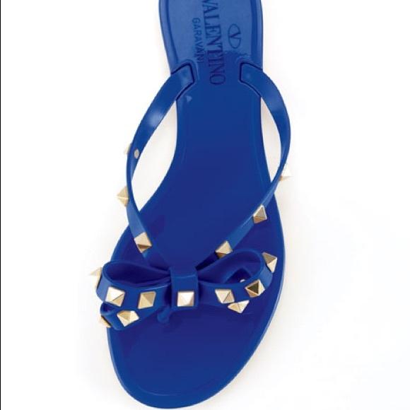 Valentino Shoes   Rockstud Blue Pvc